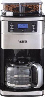 Kahve Makinesi,  900 W, 12 fincan kahve kapasitesi,  öğütme,  zamanlayıcı,  damlatma emniyeti,  siyah
