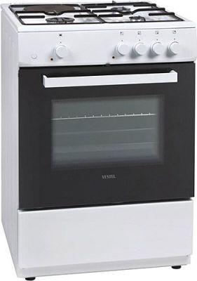 60 cm, Turbo fırın, 3 göz gaz, 1 göz elektirikli, beyaz, 86-60-62 cm