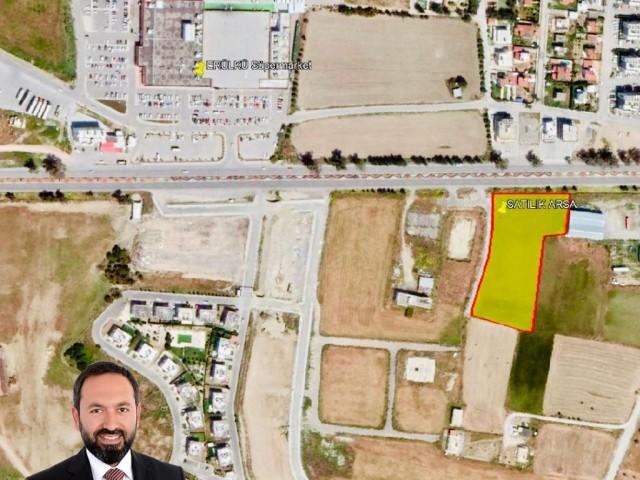 Lefkoşa-Minareliköy'de ANAYOL üzeri (ERÜLKÜ karşısı) 7,520 m2 (FASIL-96 İmarlı) Mükemmel Arsa Yatırı