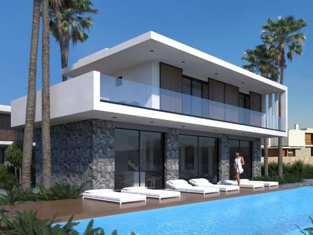 Mağusa - Yeni Boğaziçi'nde Yepyeni Özel Tasarımlı Lüks Havuzlu Son 4 Villa