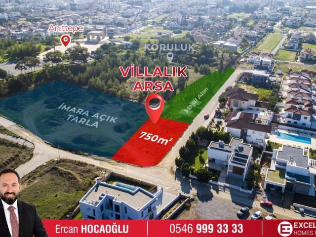 Lefkoşa-Hamitköy'ün EN NEZİH Bölgesinde; Komşu Parselleri Yeşil Alan - %80 İmarlı - 750m2 - EMSALSİZ