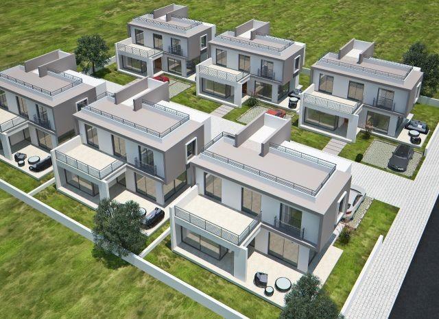 Girne-Boğaz'da doğayla iç içe tam müstakil bahçeli modern mimari dubleks villalar (*25,000 GBP Peşin