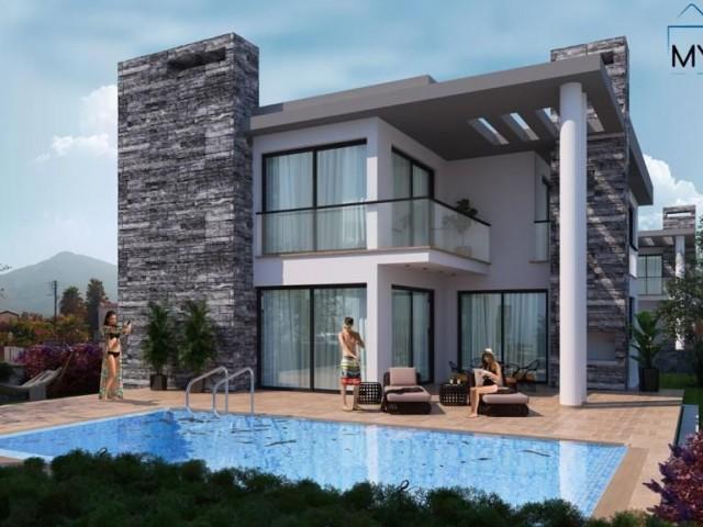 Kıbrıs Girne Ozanköy'de TÜRK MALI, 4+1, Özel Yüzme Havuzlu, Satılık Lüks Villa