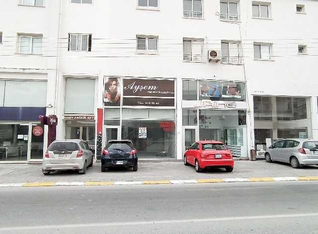 Girne Semih Sancar caddesinde Digitürk bulunduğu binada  kiralık dükkan