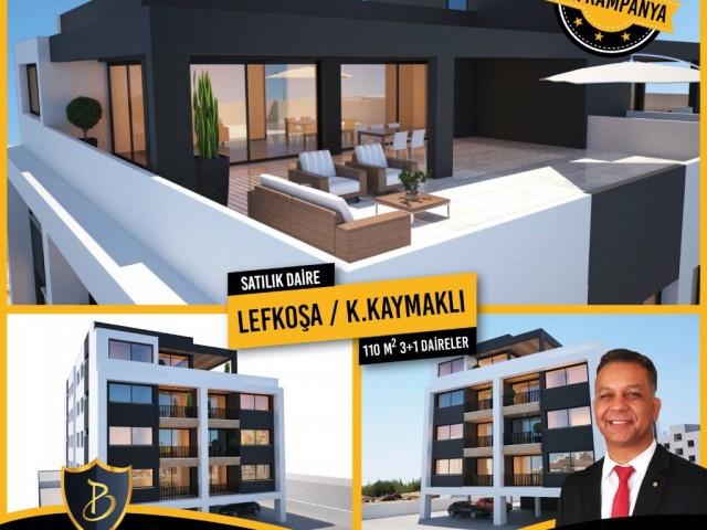 LEFKOŞA K.KAYMAKLI'DA SATILIK 3+1 DAİRELER !!!